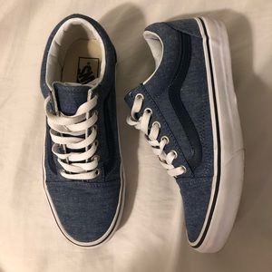 Womens Blue Old Skool Vans